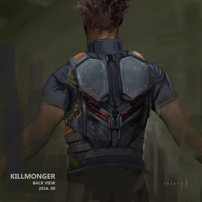 Black Panther Concept Art Rodney Fuentebella Erik Killmonger Back 01