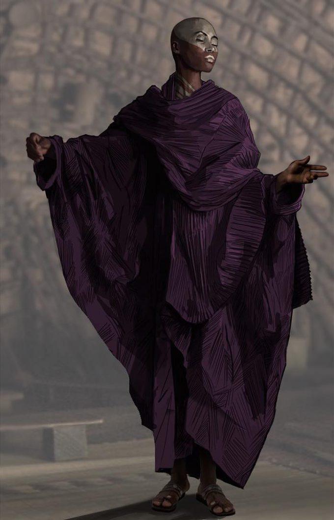 Black Panther Costume Concept Art Phillip Boutte Jr 01 Zuri Preistess