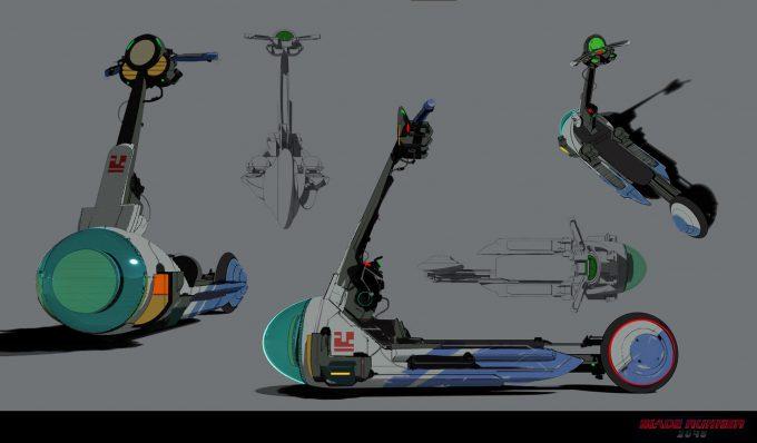 Blade Runner 2049 Concept Art Dan Baker scooter1