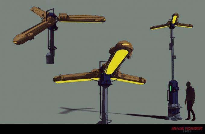 Blade Runner 2049 Concept Art Dan Baker streetlamp1