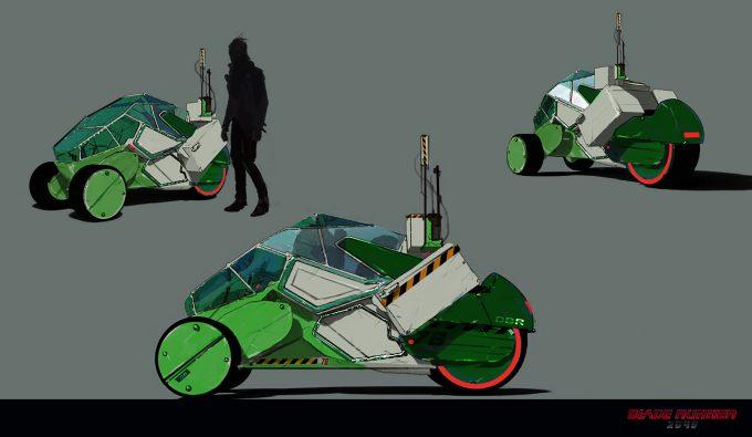 Blade Runner 2049 Concept Art Dan Baker trike green1