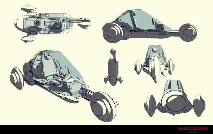 Blade Runner 2049 Concept Art Dan Baker trike2