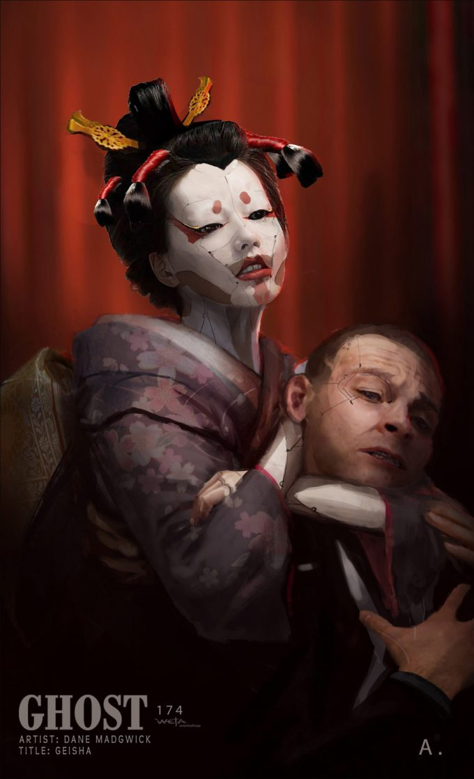 Dane Madgwick Concept Art Geisha Ghost In the Shell