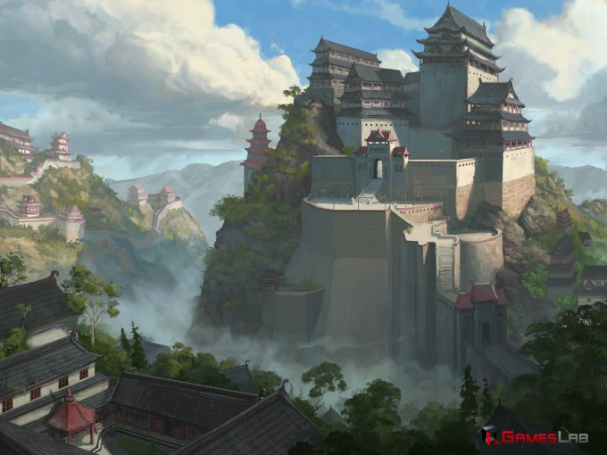 Dane Madgwick Concept Art Monks Fortifications Citadel of the Masters