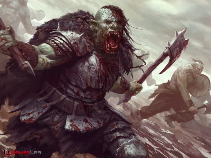 Dane Madgwick Concept Art orks hero charnak the bloodthirsty 1