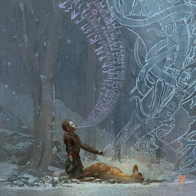 God of War A Call From The Wilds Illustrations Vance Kovacs 04