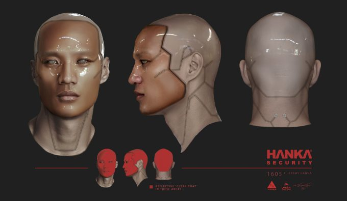 Jeremy Hanna Ghost In the Shell Concept Art hanka security front side back jh