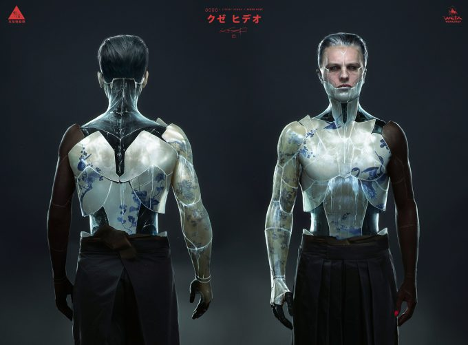 Jeremy Hanna Ghost In the Shell Concept Art kuze front back 04e jh