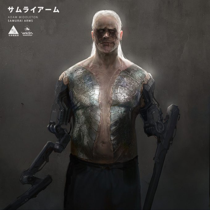 adam middleton concept art ghost in the shell samurai arms scarring 01 am
