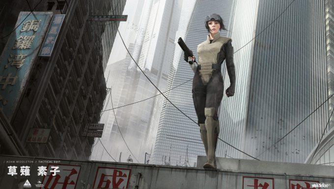adam middleton concept art ghost in the shell weta workshop design studio major combat suit