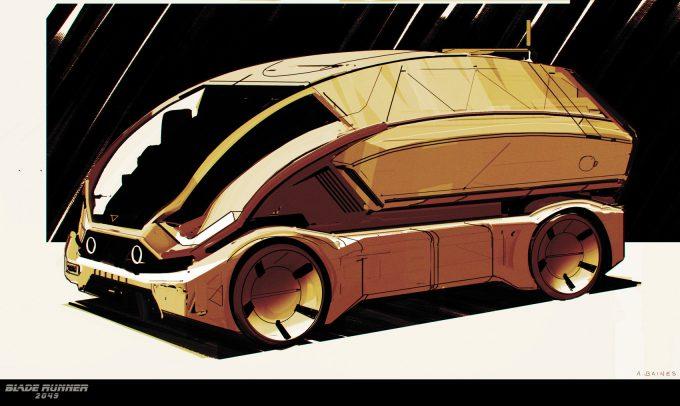 Blade Runner 2049 Concept Art Adam Baines tiboro 20161214 carsketch resized 003 ab
