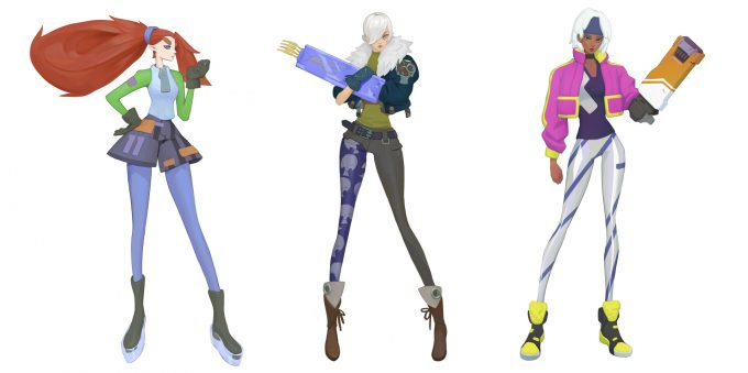 Konstantin Maystrenko Character Concept Art Illustration Girls 04