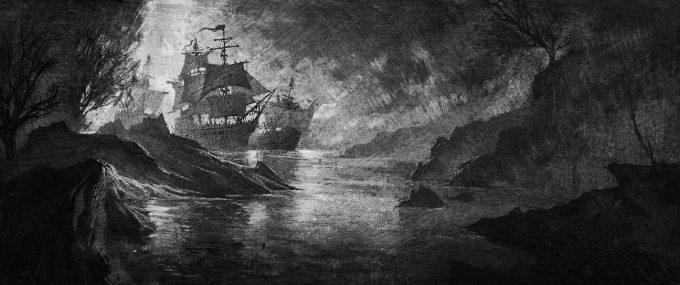 Sailing Ship Concept Art Illustration 01 Aaron Limonick Arrival