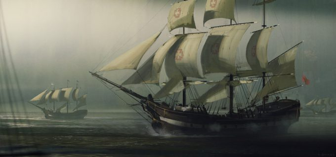 Sailing Ship Concept Art Illustration 01 Adam Baines
