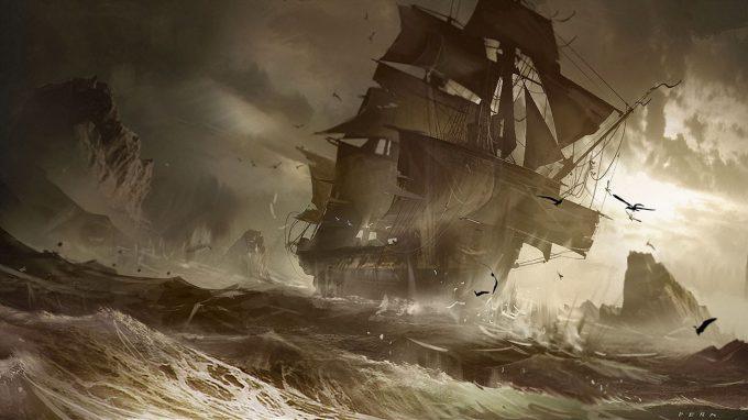 Sailing Ship Concept Art Illustration 01 Eduardo Pena Unexpected Waters 01