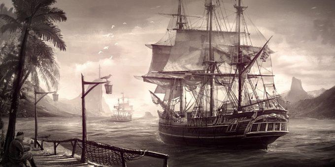 Sailing Ship Concept Art Illustration 01 Encho Enchev Tropical Environment