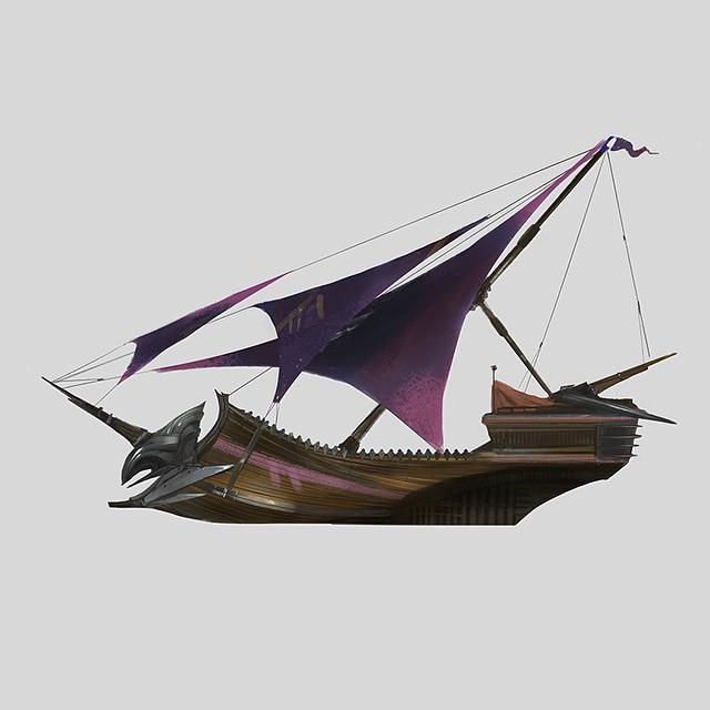 Sailing Ship Concept Art Illustration 01 Graeme McCormack