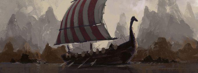 Sailing Ship Concept Art Illustration 01 Matt Allsopp Sketch