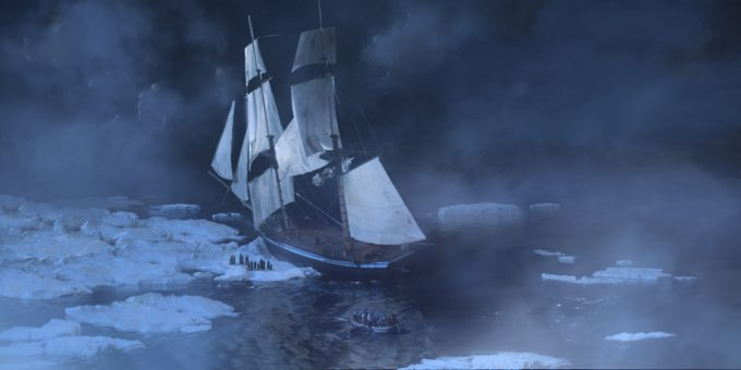 Sailing Ship Concept Art Illustration 01 Patrick OKeefe Crash