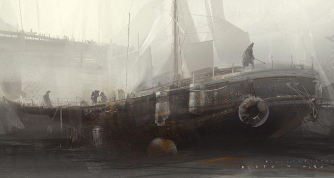 Sailing Ship Concept Art Illustration 01 Richard Anderson