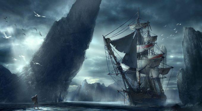 Sailing Ship Concept Art Illustration 01 Steve Chinhsuan Wang