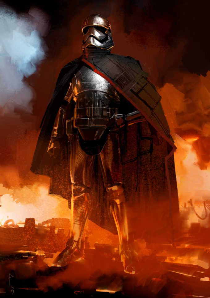 Star Wars The Force Awakens Concept Art Dermot Power Captain Phasma 01