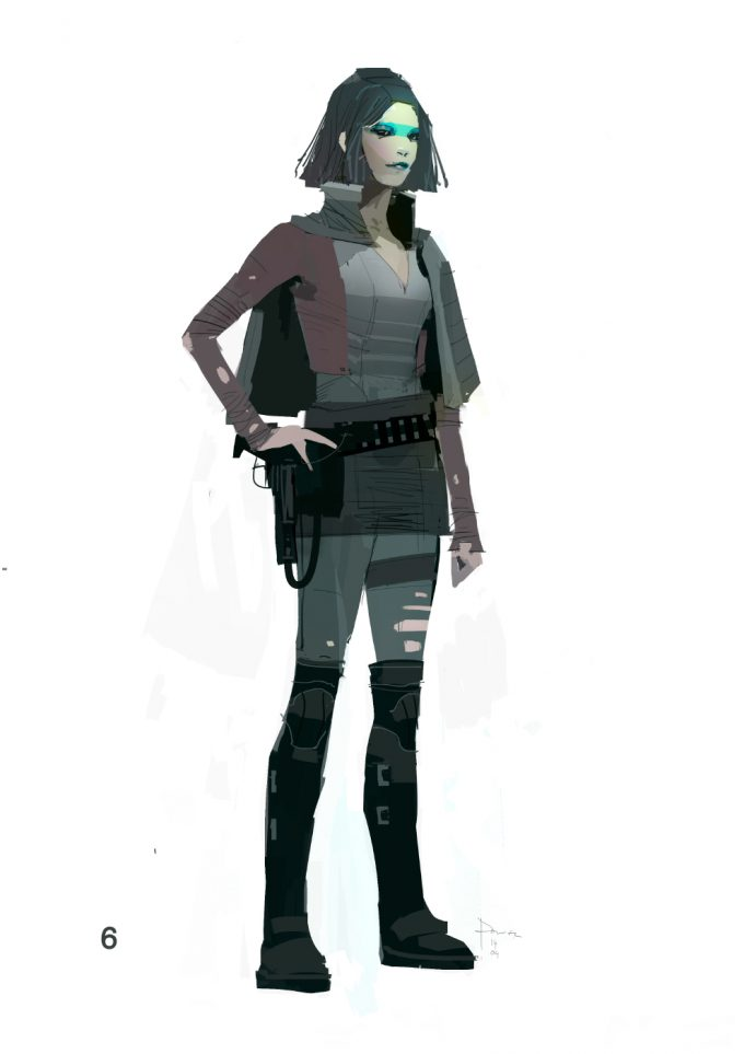Star Wars The Force Awakens Concept Art Dermot Power Character Costume designs 06