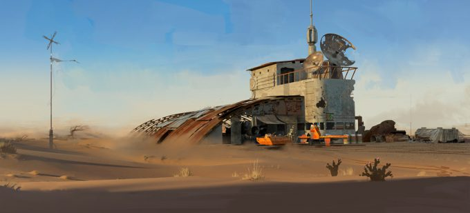 Star Wars The Force Awakens Concept Art Dermot Power Environment Set 05