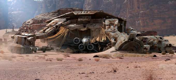 Star Wars The Force Awakens Concept Art Dermot Power Environment Set 08
