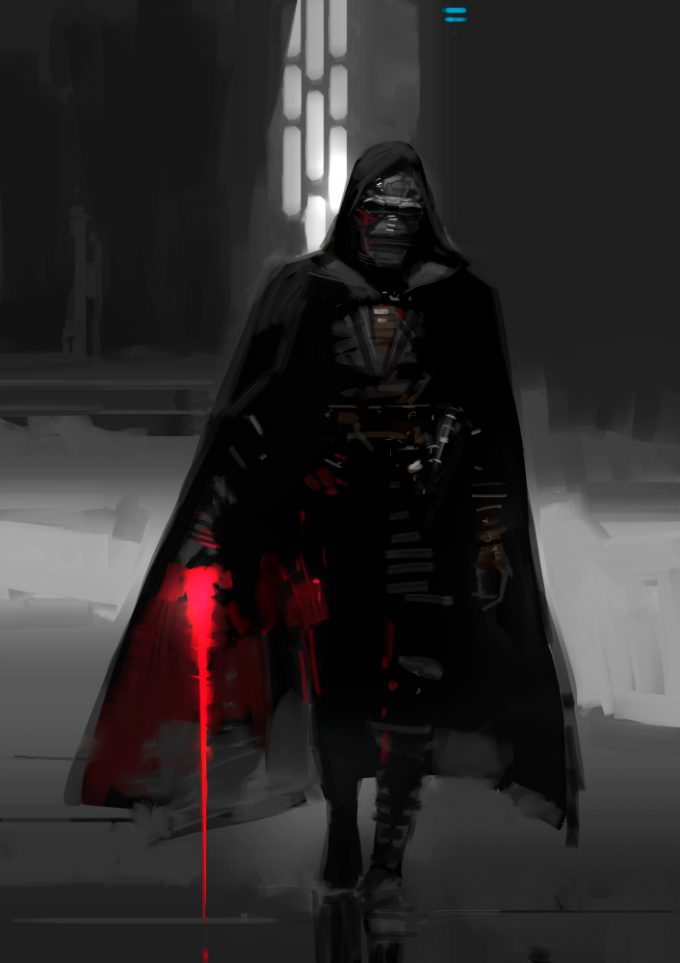 Star Wars The Force Awakens Concept Art Dermot Power Unused Kylo Ren Jedi Killer Design 09