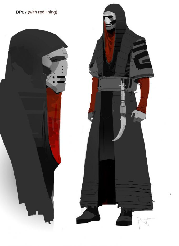 Star Wars The Force Awakens Concept Art Dermot Power Unused Kylo Ren Jedi Killer Design 10