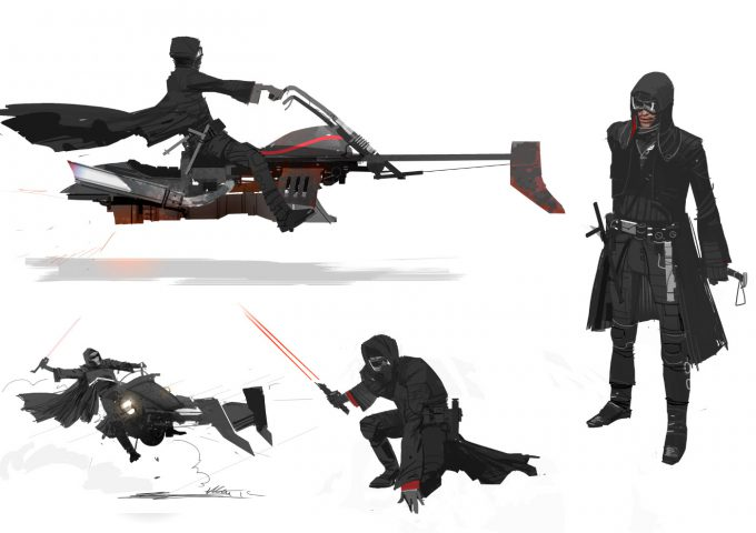 Star Wars The Force Awakens Concept Art Dermot Power Unused Kylo Ren Jedi Killer Design 12