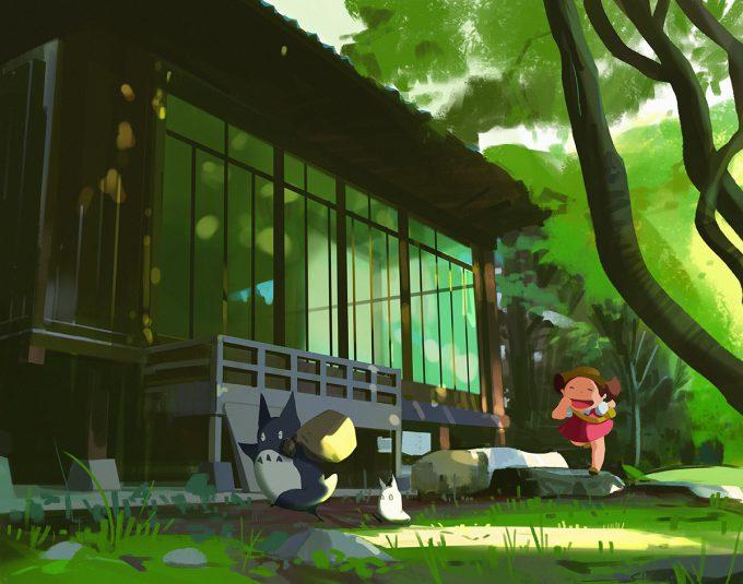 atey ghailan studio ghibli fan art 98 My Neighbor Totoro