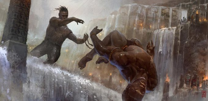 black panther concept art vance kovacs 07 Fight on the Falls