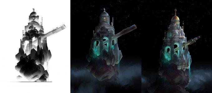 luc steadman design illustration theme park icon color progression