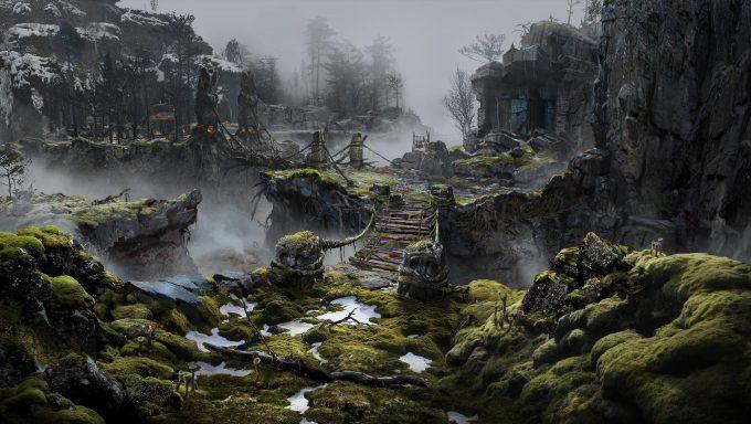 God of War Concept Art 07 Environment