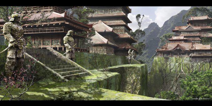 Greg Semkow Concept Art Edo Ruins 2