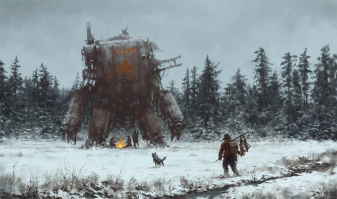 Howling at the MoonArt Book by Jakub Rozalski 00
