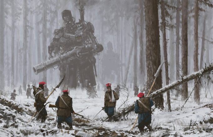 Howling at the MoonArt Book by Jakub Rozalski 09
