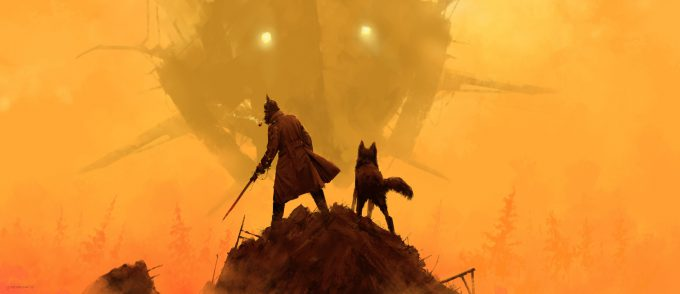 Howling at the MoonArt Book by Jakub Rozalski 11