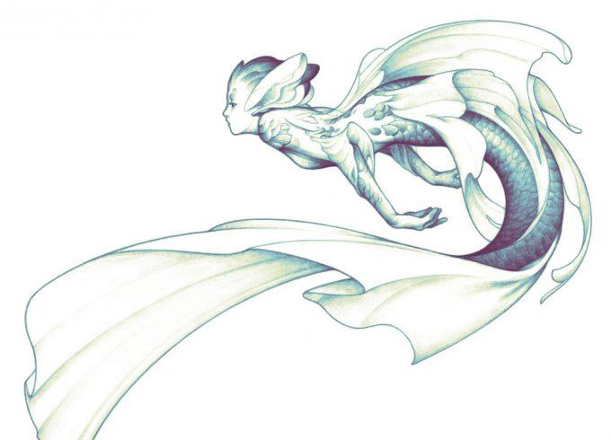 Mermaid Concept Art Illustration 01 Ashley Mackenzie