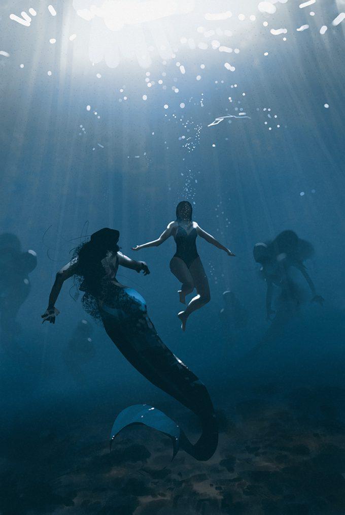 Mermaid Concept Art Illustration 01 Atey Ghailan Into the drowning deep