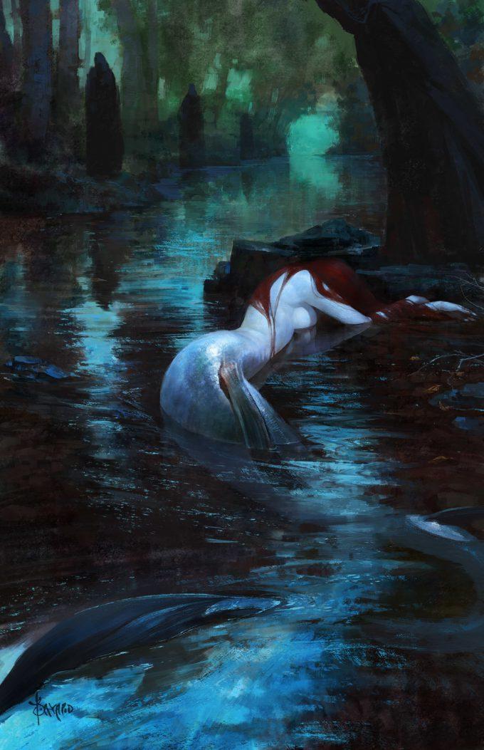 Mermaid Concept Art Illustration 01 Bayard Wu Fate