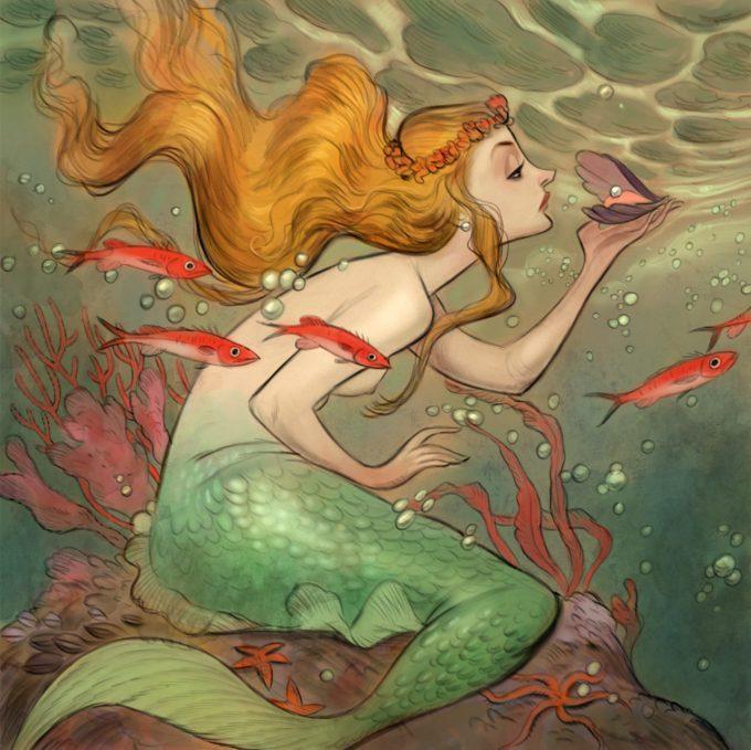 Mermaid Concept Art Illustration 01 Cory Loftis