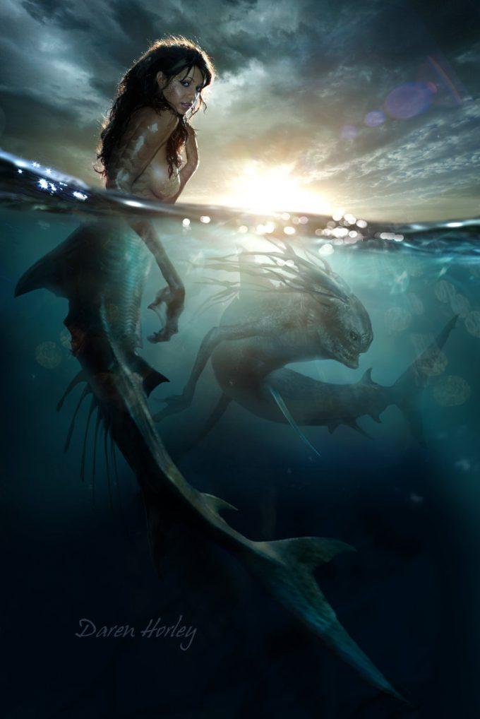 Mermaid Concept Art Illustration 01 Daren Horley