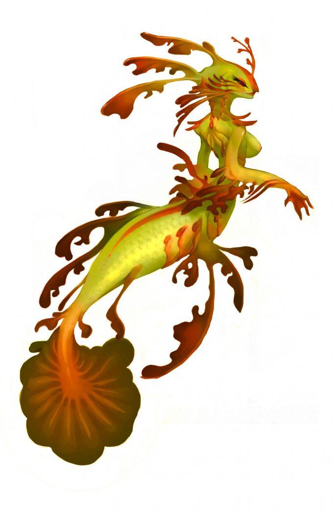 Mermaid Concept Art Illustration 01 Gem Lim lone wingy