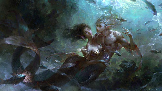 Mermaid Concept Art Illustration 01 Guangjian Huang