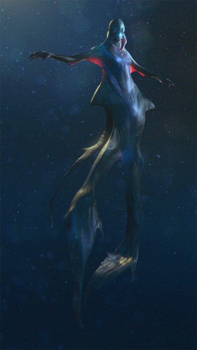 Mermaid Concept Art Illustration 01 Jakub Javora Water Alien Under
