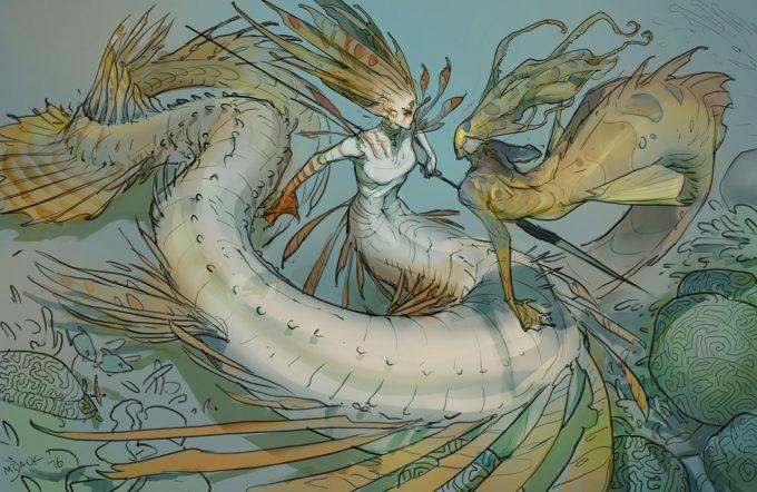 Mermaid Concept Art Illustration 01 Luke Mancini mermering