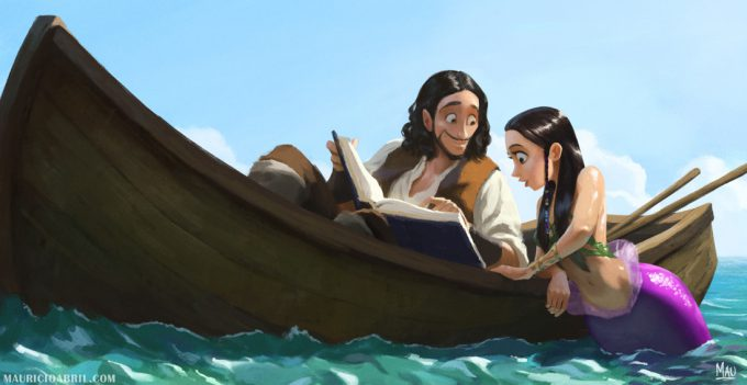 Mermaid Concept Art Illustration 01 Mauricio Abril The pirate and the mermaid